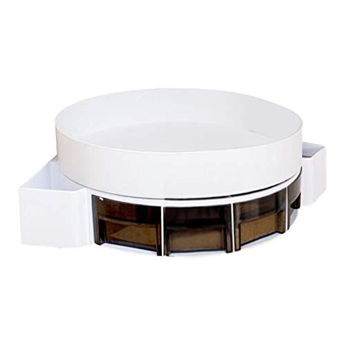 Bettying Estantería de ducha giratoria, estantería de esquina, autoadhesiva, triangular, giratoria, multifuncional, 360 grados, para cocina, baño, organizador de pared