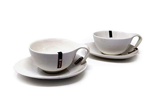 Ensemble petit-déjeuner Ovum 2 grandes tasses avec soucoupes
