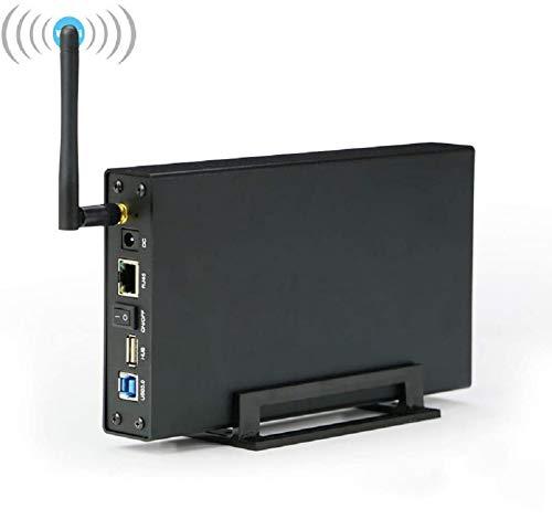 2.5/3.5-inch Router WiFi, WiFi Hard Disk Box, Ripetitore WiFi, Case Hard Disk Supporto WiFi Trasmissione, USB 3.0 a SATA 3.0 per SATA/HDD/SSD, Compatibile con iOS, Android, Windows