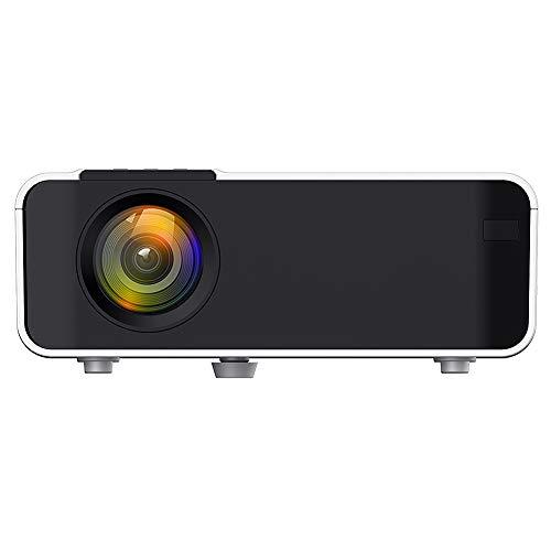 Goshyda Proyector portátil, Full HD 1080P 4K WiFi Bluetooth, TV Video Cine en casa Cine Proyector de películas, HDMI, VGA, USB Dual, AV, para computadora portátil, teléfono Inteligente(EU)