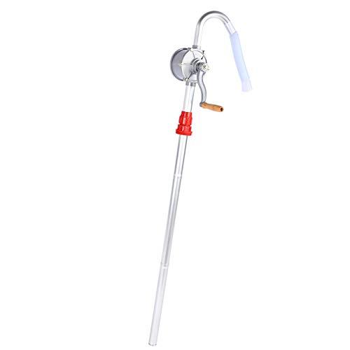 Bomba de tambor manual, bomba de tambor giratoria Aleación de aluminio Manivela giratoria de aceite Bomba de tambor de tambor Bombeo de combustible diésel para bombeo de aceites combustibles
