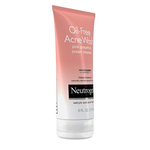 Neutrogena Oil-Free Acne Wash Pink Grapefruit Cream Facial Cleanser,...