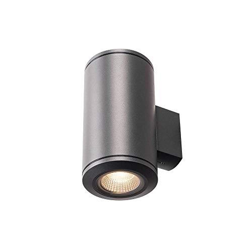 SLV POLE PARC UP/DOWN Leuchte Outdoor-Lampe Aluminium/Glas Schwarz Lampe außen, Aussen-Lampe