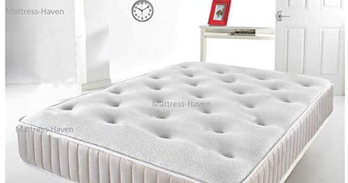 Mattress-Haven Deep Sleep Cool Blue Memory Foam Mattress, Sprung Mattress with Cool Blue Foam4FT - Small double