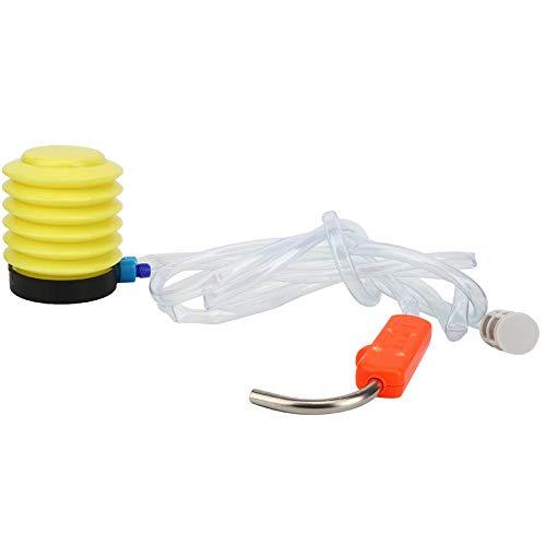 Vbest life Bomba de pie de Fuelle de plástico, Bomba de pie portátil para Actividades de Pesca y Camping al Aire Libre