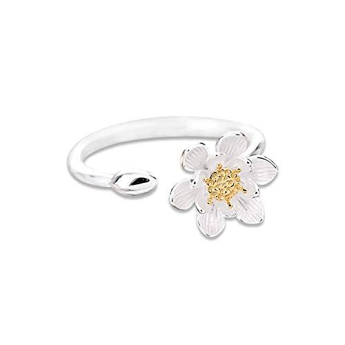 Ogquaton Mode Ring Persönlichkeit Blume Einstellbare Ring Mädchen Schmuck Geburtstagsgeschenk 1 Stück kostengünstig