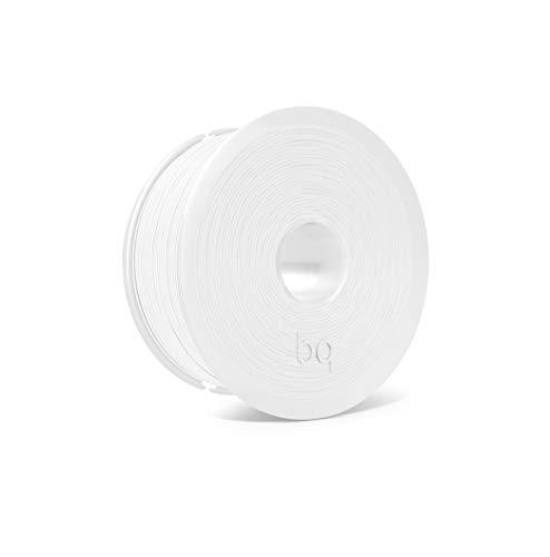 BQ Easy Go - Filamento PLA de 1.75 mm (100% PLA, resistente a la acetona, rápido endurecimiento) color blanco puro