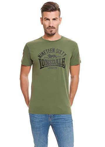 Lonsdale London Nineteen Sixty T-shirt Olive maat S, M, L, XL, XXL.