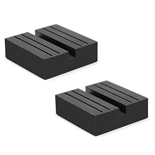 Hitter Jack Rubber Pad, Car Black Anti-Slip Rail Adapter Support Block Heavy Duty for Car Lift(2 pcs)