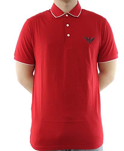 Emporio armani - F314 polo shirt rosso st aquila 3H1FM01JCQZ
