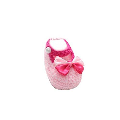 Chaussures de Bébé, LuckyGirls Bébé Filles Casual Chaussures Fait Main Tricot Chaussettes Chaussures pour Bébés Filles Chaussettes Tricot Handmade Chaussons