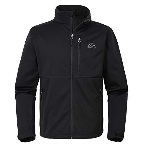 YSENTO Herren Fleece Jacke Softshelljacke Winter Warm Campingjacke Outdoor Leichte Ski Jacke mit Durchgehender Reißverschluss