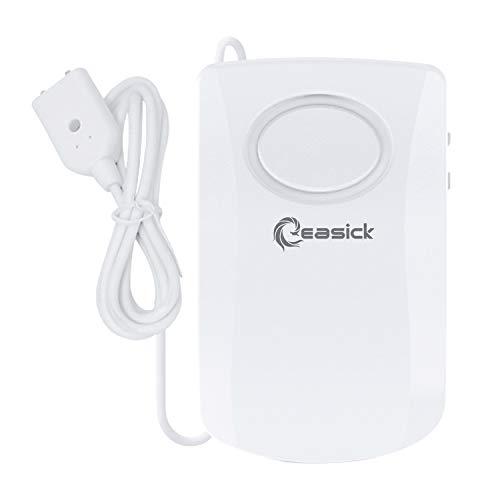 Wassermelder Wasserwächter,Easick Wasser Alarm, 130db Super laut Alarm, Batteriebetrieben. verhindert Wasserschäden in Bereichen wie Küche, Bad und Keller