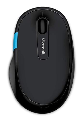 Microsoft - Sculpt Comfort Mouse - Souris Bluetooth pour PC, ordinateurs portables compatible Windows, Mac, Chrome OS - Noir (H3S-00002)