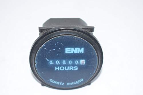ENM Company T50A2, Hour Meter, Quartz, 2.31 in. Round, 0.4W, 115 VAC, AC, 6 Digit