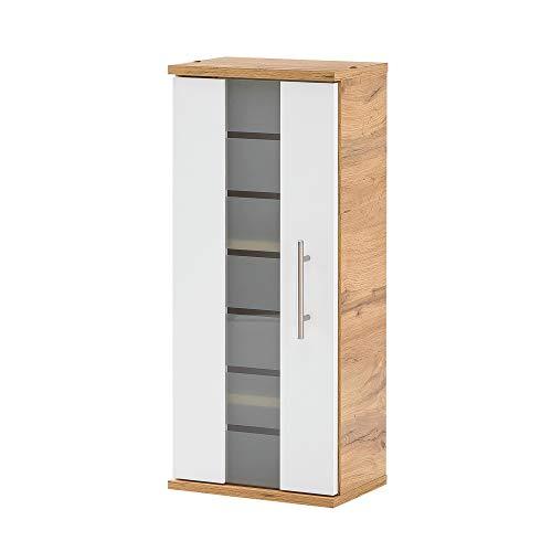 BODENMEISTER Badezimmerschrank, Holzwerkstoff, Braun, 30 cm