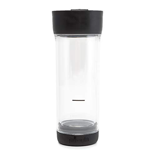 Primula Press and Go Double Wall Loose Leaf Iced Tea Brewer Tumbler With Strainer, 16 oz, Black