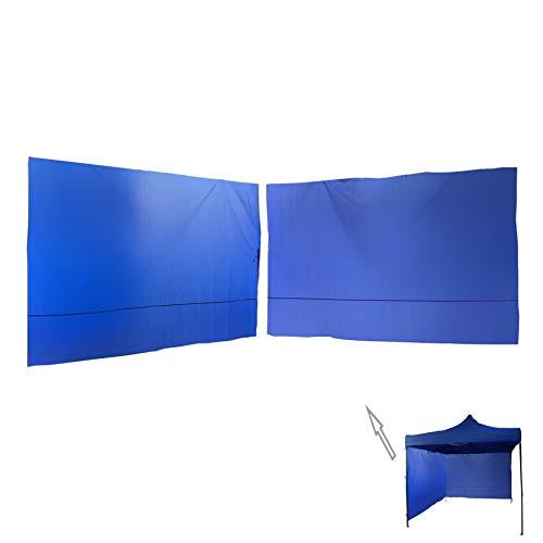 Rebecca Mobili 2 Pz Teli Laterali, Pareti Blu per Gazebo 3x3 mt, Poliestere, Facile Montaggio, Anti Vento Pioggia - Misure: 1,9 x 2,9 mt (HxL) - Art. RE6446