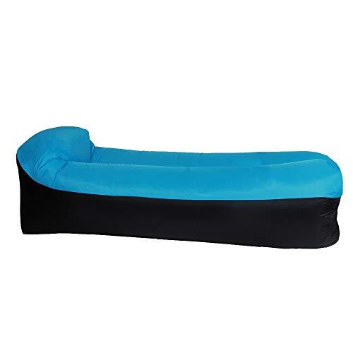 XKMY Colchoneta de camping portátil inflable para sofá o cama de dormir para acampar al aire libre viajes (color azul)