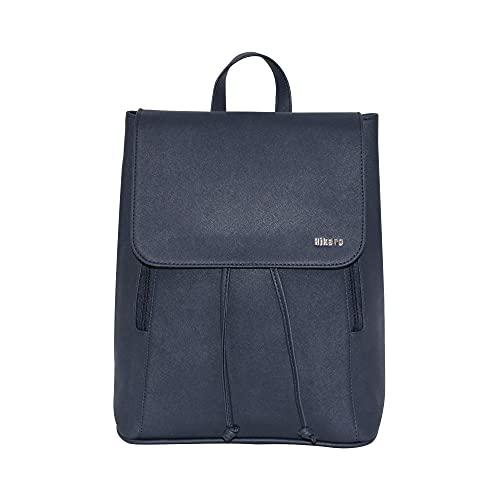 chenghuax Amazon-Marke - Frauen PU. Laster-Laptop-Rucksack Casual Lightweight Fashion Rucksack Rucksack Tagesrucksack für Frauen, Mädchen, Teenager (Color : Navy, Size : 14.5 X 6 X 14)