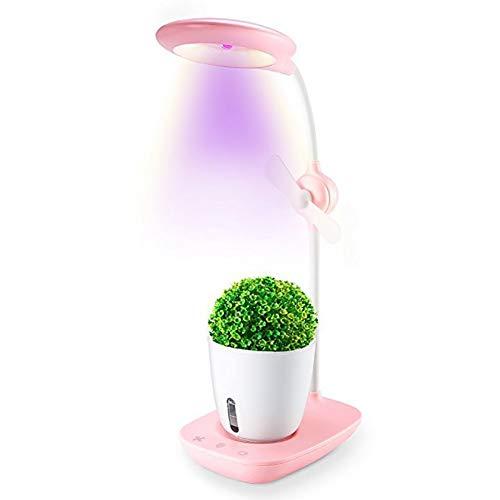 ZDYLM-Y Smart Garden, 2 en 1 Ojo-protección Light Reading hidroponía Creciente del Sistema con Ventilador, purificador de Aire en su Escritorio,Rosado