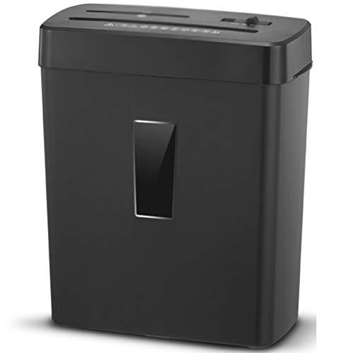Distruggidocumenti Granulare Mini Ufficio Trita Carta Elettrico Tritadocumenti Alta Sicurezza Portatile,Cancelleria Desktop per Ufficio Domestico (Color : Black, Size : 31 * 16.4 * 38cm)