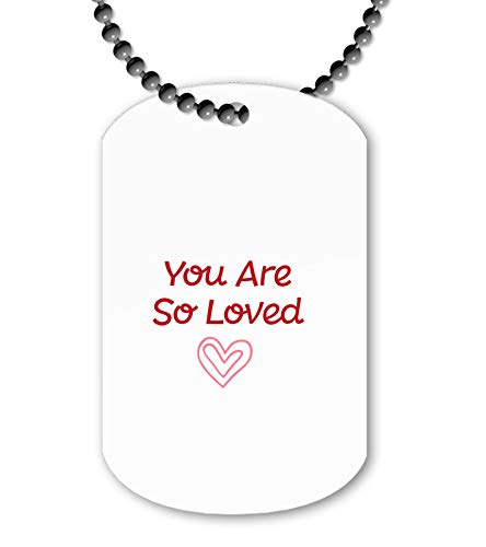 Miammo You are So Loved Simple Heart [BCV] ballchain Pendant - Dog tag Style Necklace