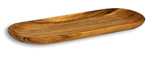 levandeo Holztablett aus Akazie 35x20cm rechteckig - Schale Obstschale Tablett aus Holz Unikat - Deko Dekoration Aufbewahrung