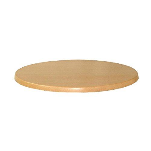 Werzalit Plus U548 Dessus de table ronde, 600 mm de diamètre, Planked Hêtre