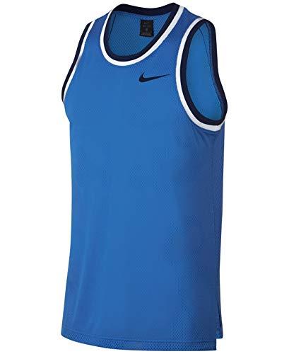 Nike Men's Dry Classic Basketball Jersey (Pacific Blue/Blue Void, Medium) Classic Screen Print Jersey
