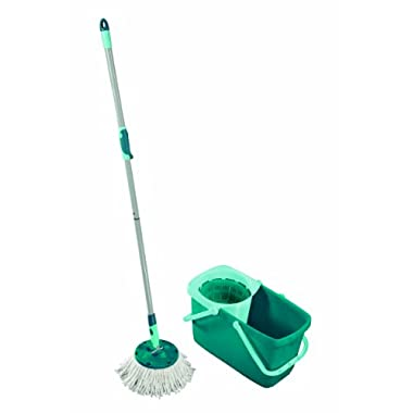 Leifheit Clean Twist Spin Mop System with Bucket and Round Mop Head