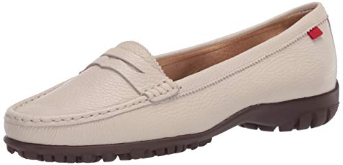 MARC JOSEPH NEW YORK Damen Leder Made in Brazil Lightweight Union Golf Performance Schuh, Weiá (Getrommelkörnchen Creme), 36 EU