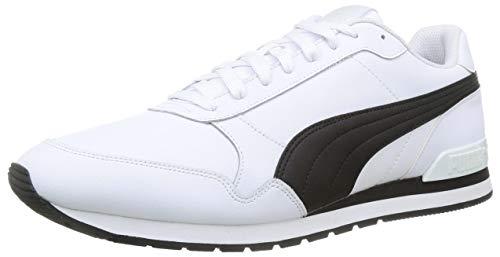 PUMA Unisex ST Runner v2 Full L Sneaker, White Black, 40 EU