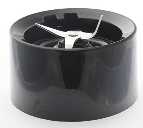 Remplacement de la base du pot/col de style nouveau avec lames noir onyx (convient aux plus récents) pour le mélangeur sur socle KitchenAid (modèles commençant par KSB555, 5KSB555)