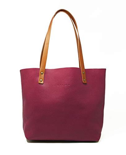 CP CALMA PROJECT - Tote Bag BEL   Bolso Mujer, Bolso Piel 100% Artesanal con Bolsillo Interior y Cadena para Llaves