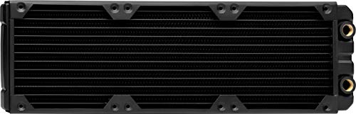 Corsair Hydro X Series, XR5 Radiateur de 360 mm (Triples Fixations Ventilateur de 120 mm, Installation Facile, Construction en Cuivre Premium, Guides de Vis de Ventilateur Inclus) Noir