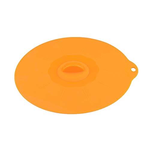 Reutilizable Lids de Cuenco de Silicona 6PCS, Fundas de succión Reutilizables para Cuencos, ollas, Tazas Lavaplatos, microondas y congelador (Color : Orange)