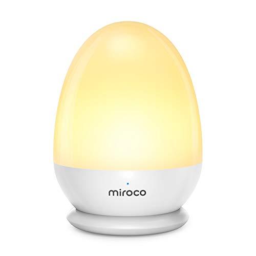Miroco Veilleuse Bébé Autonomie 200H Max Veilleuse Nuit Tactile Luminosité et Couleur Réglables Led Lampe Camping en ABS+PP avec Fonction de Minuterie et Mode SOS, Étanche IP65