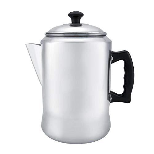Fdit 3L Aluminiumlegierung Kaffeemaschine Pot Percolator Getränkespender Teekessel mit schützenden Kunststoffgriffen Top mit Deckel für Induktionsherd und Herd MEHRWEG VERPACKUNG