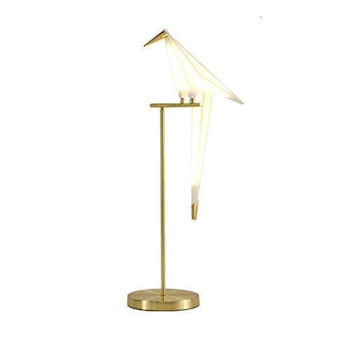 Lámpara de mesa Simple nórdica acrílico Bird electrochapada del arte del hierro lámparas de escritorio for el dormitorio Estudio de la luz del libro Living Room Oficina LED de los regalos Decor Cuarto