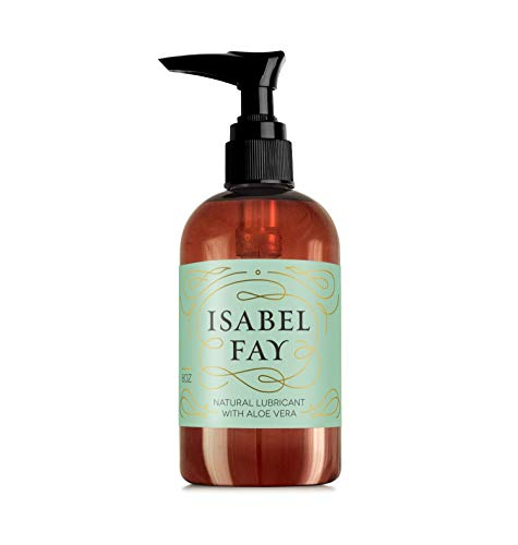 Natural Water Based Personal Lube with Aloe Vera - Isabel Fay for Women with Sensitive Skin - 8OZ - No Glycerin, No Parabens