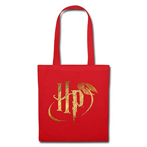 Harry Potter Logo HP Stoffbeutel, Rot