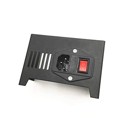 VIKTK Coperchio/Protezione in Acciaio Nero/Protettore con Interruttore Adatta per ANET A8 3D Stampante Parti di Aggiornamento (Size : Cover And Switch)