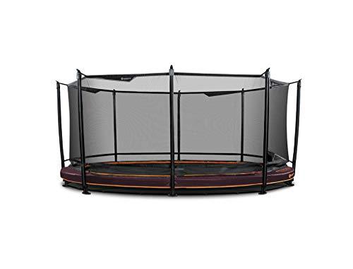 North Trampoline - Outdoor Trampolin - Explorer Low - 500cm - Oval -Maroon- Gartentrampoline XXL