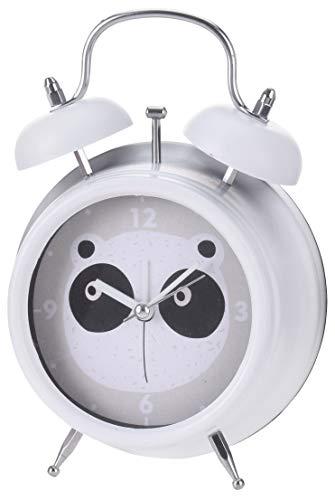 MIK Funshopping Kinder-Wecker Analog Quarzwecker mit lautem Alarm, batteriebetrieben (Motiv Panda)