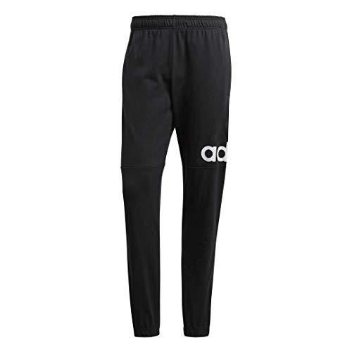 adidas Men's Essentials Performance Logo Pants, Black/White, XX-Large