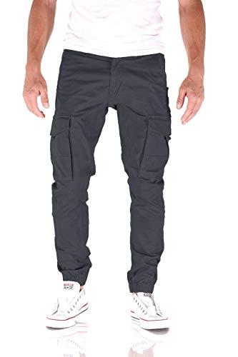 JACK & JONES Paul Flake Cargo Regular Fit Herren Jeans Hose, Farbe:Odyssey Gray, Hosengröße:W34/L34