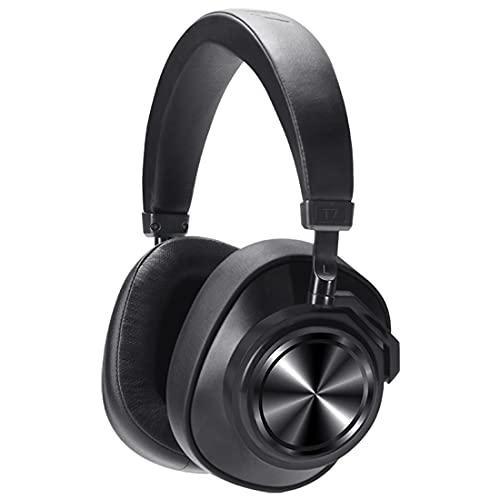 EXEDSCEND Auriculares de cancelación de Ruido Activo Auriculares inalámbricos Bluetooth sobre Oreja, T7 + 32G RAM, Bajo Profundo con 30H Playtime para el Juego de Viajes TV Juego