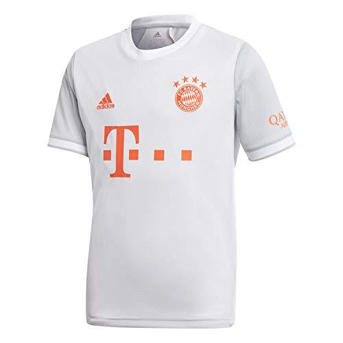 adidas Kinder 20/21 FC Bayern Away Jersey Trikot, Dshgry/White, 140