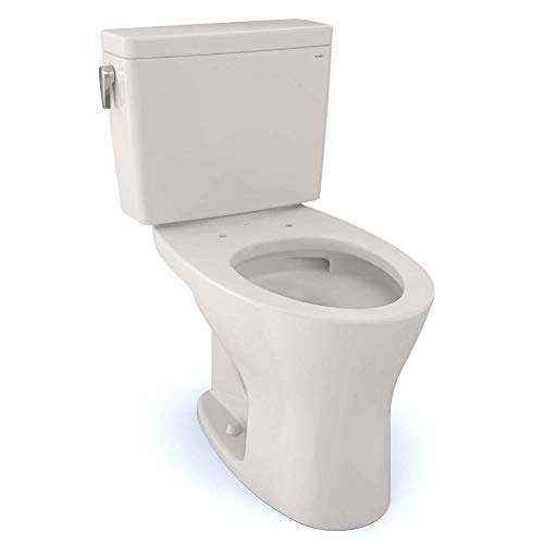 TOTO CST746CSMG#11 Drake Two-Piece Elongated Dual Flush 1.6 and 0.8 GPF DYNAMAX TORNADO FLUSH Toilet with CEFIONTECT, Colonial White